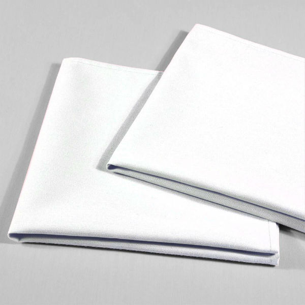 serviette de table tissu blanc uni 42 x 42 cm falaise r ception. Black Bedroom Furniture Sets. Home Design Ideas