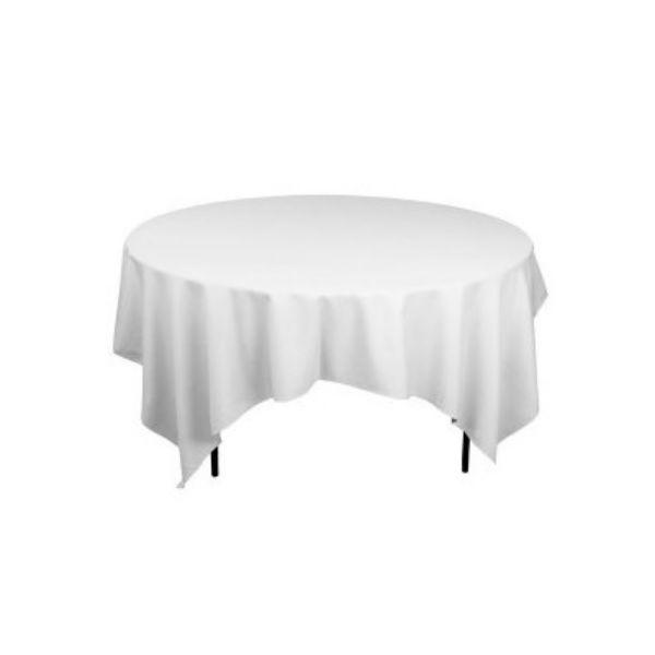 nappe carr e tissu blanc uni 240 x 240 cm falaise r ception